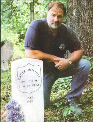 Private Cager Mitchell's grave marked by descendant